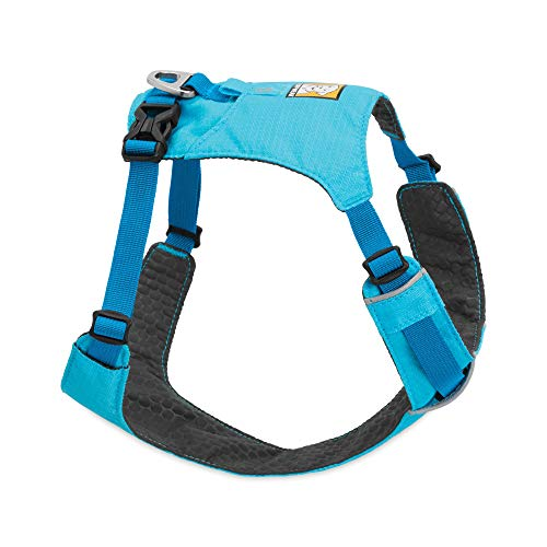 RUFFWEAR, Hi & Light, Everyday Lightweight Dog Harness, Trail Running, Walking, Hiking, All-Day Wear, Blue Atoll, X-Small