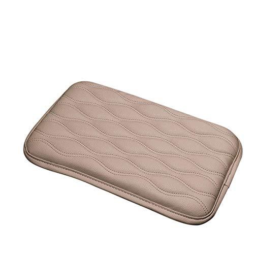 Soft Leather Car Center Console Armrest Elbow Cushion Comfort Pillow Pad Size 11 1/2'' X 8 1/4'' (Beige)