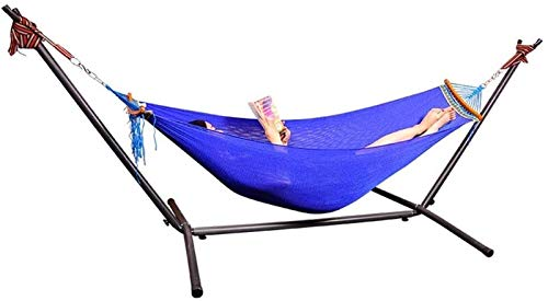 Plztou Park Freestanding Hammock Garden Swing Hammock Balcony Canvas Hammock Hammock With Stand, Load Capacity About 250KG (Without iron pipe bracket)