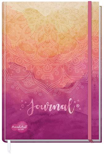 Trendstuff by Häfft Bullet Journal dotted - Cuaderno (A5, con banda de goma, diseño de mandalas, resistente y duradero)