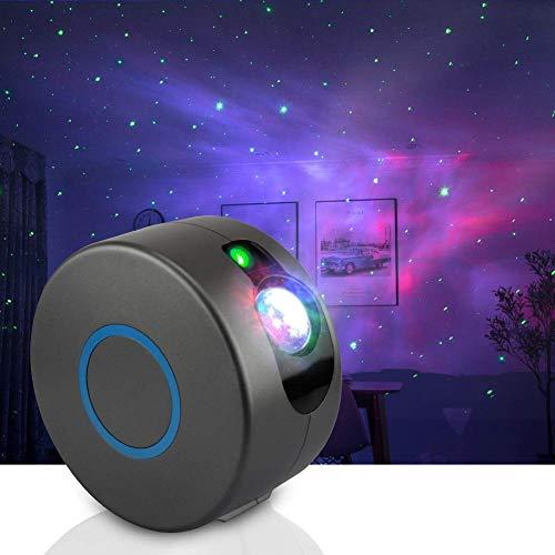 LED Projektor Sternenhimmel Lampe mit Fernbedienung, LED Projektionslampe Mondlicht Wasserwellen Projektorlicht für Party, Feiertage, Geburtstagsfeiern