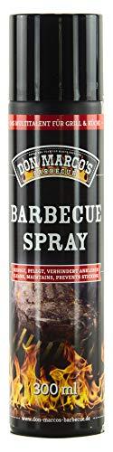 DON MARCO\'S BARBECUE BBQ Spray, 100{4c9f3a037e25f89877cd48a17c1425f27f0ddd5c9c7c89e033f6ceb4e108d40a} Rapsöl, 1er Pack (1x 300ml)