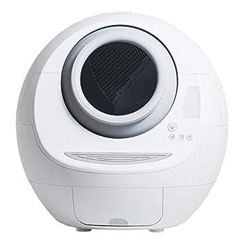 ZCY Auto Autonettoyant Maison de Toilettes pour Chat Cabine Lavable Intelligent Toilette pour Chat avec LCD D'exploitation, Grand Litière Plateau, Blanc