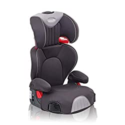 Group 2/3 car seat - suitable from 4 to approx. 12 years (15-36 kg) One-hand, adjustable headrest Seat covers Retractable cupholders Height-adjustable armrests Open-loop belt guides to help ensure proper seat belt positioning Graco Pedic foam used on...
