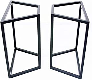 [Wooden JAPAN匠一松] アイアン脚(ツヤ消し黒)台形25mm角1枚板テーブル用