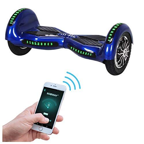 Robway W3 Hoverboard - Das Original - Samsung Marken Akku - Self Balance - 22 Farben - Bluetooth - 2 x 400 Watt Motor - 10 Zoll Luftreifen (Dunkelblau)