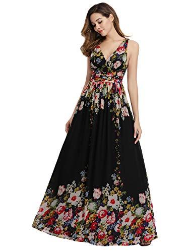 Ever-Pretty A-línea Largo Vestido de Fiesta Corte Imperio Cuello en V sin...