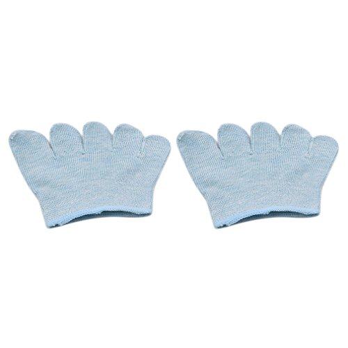 Ifdayy - Calcetines de cinco dedos de algodón para mujer, calcetines de medio dedo para yoga, baile, ejercicio, azul, M