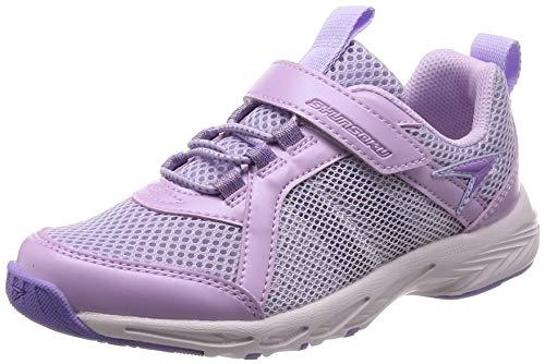 [シュンソク] 運動靴 通学履き 瞬足 スパイク 耐久性 軽量 19~24.5cm 2E キッズ 女の子 ラベンダー 24 cm