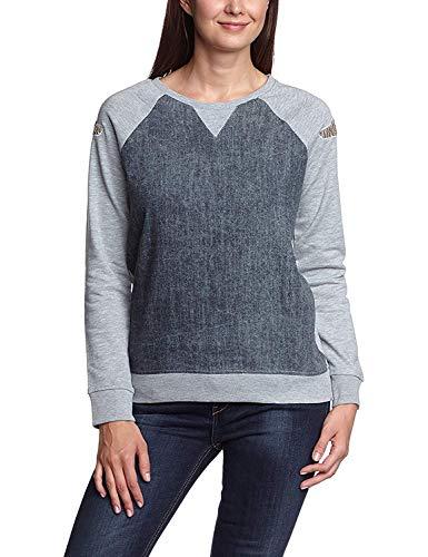 LTB Jeans dames shirt met lange mouwen Federica S/T - meerkleurige grijze Mel 203, M