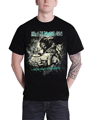 Iron Maiden T Shirt from Fear To Eternity Distressed Oficial De Los Hombres Size M