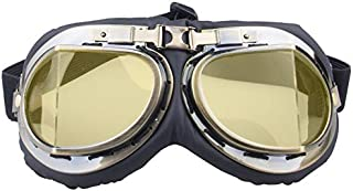 Sunglasses Fashion Accessories Retro Goggles Off-Road Motorcycle Outdoor Windproof Sand Dust Goggles UV (Color : Yellow)