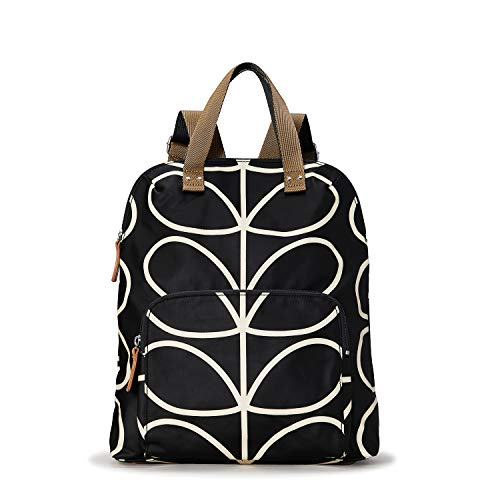Orla Kiely Core Linear Tote Back pack, Black/Cream, One Size