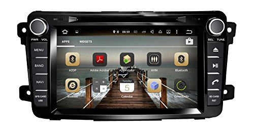 XTTEK 8 inch HD 1024x600 Multi-Touch Screen in Dash Car GPS Navigation System for Mazda CX-9 2007-2015 Quad Core Android DVD Player+Bluetooth+WiFi+SWC+Backup Camera+North America Map