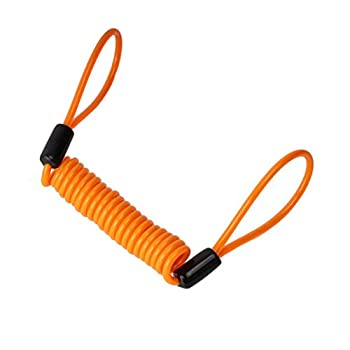 Tinksky Câble d'antivol de moto et verrouillage de disque, 1,2m Orange