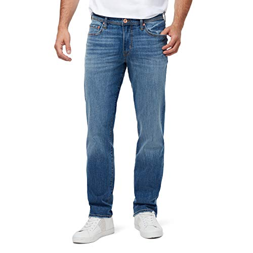 CHAPS Jeans Men's Relaxed Fit Trusted Straight Leg Jean, Blue Skies, 36W x 30L