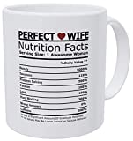 Willcallyou Gifts For Wife From Husband And Valentines Day Gifts For Her, Anniversary Wife Romantic Mugs, Funny Heart Nutritional Facts 11 Ounces White For My Valentine Dating Gifts