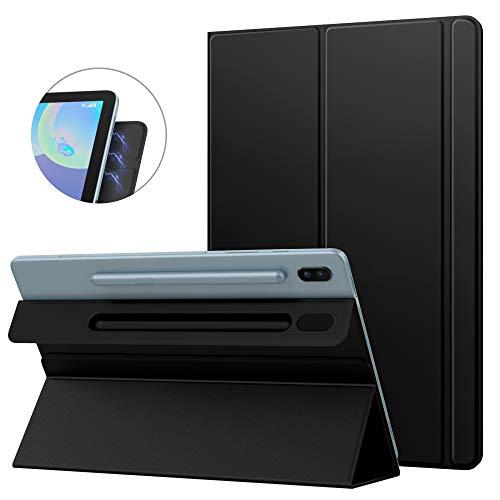 MoKo Funda Compatible con Galaxy Tab S6 10.5 SM-T860/T865 2019, Delgada y Liviana del Soporte de Smart Funda con Fuerte Adsorción Magnética con Auto Sueño/Estela - Negro