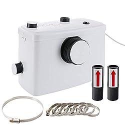 Arebos Kleinhebanlage, Fäkalienpumpe, Haushaltspumpe 600 Watt | 3 Zuläufe für WC, Dusche und Waschbecken | GS geprüft