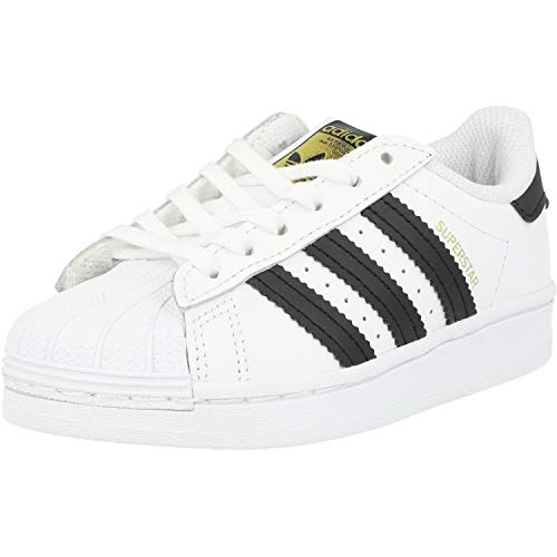 adidas Unisex-Child Superstar Sneaker, Footwear White/Core Black/Footwear White, 31.5 EU