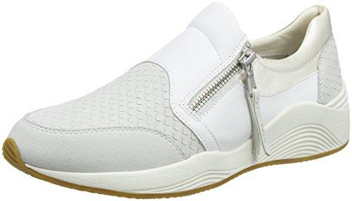 Geox Damen D OMAYA A Sneaker, Elfenbein (Off White), 42 EU