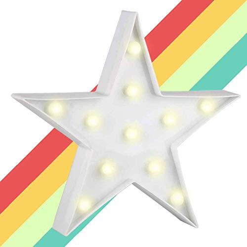 XIYUNTE Star Shaped Festzelt Lichter LED Nachtlichter, batteriebetriebene Sterne Lichter Kinderzimmer Dekor Tischlampen Dekorationen für Kinder Schlafzimmer, Geburtstagsfeier, Weihnachten