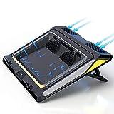 WANG-L Portatil Cooler + Base Refrigeracion De 12'-17' + USB Ventilador + Retroiluminación RGB + Soporte Ajustable + Almohadilla FríA Calor Lejos,14/15in-RGBPowerVersion