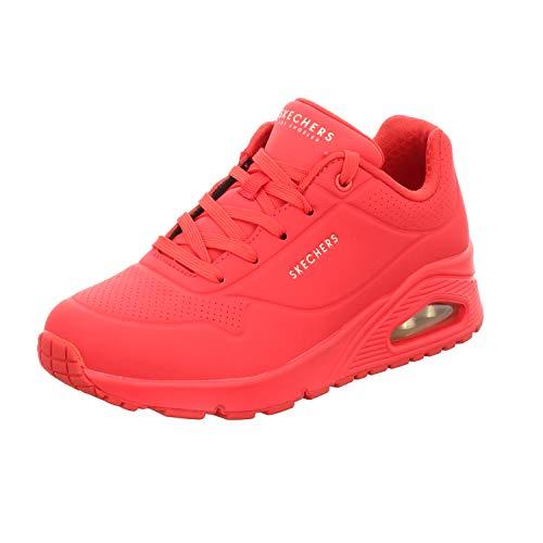 Skechers UNO Stand ON Air, Sneaker Donna, Rosso Rosso Rosso Durabuck, 35 EU