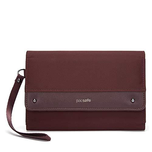 Pacsafe Damen RFIDsafe Clutch Wallet, Merlot
