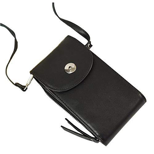 Portable Portafoglio durevole DONNA Dura di cuoio di PU Borsa delle nuove donne del messaggero sacchetto del telefono mobile Female Hot piccolo sacchetto HBDZ ( Color : Black , Size : 19*10*4cm )