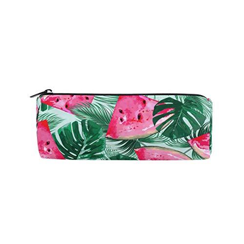 Bolsa para lápices con hojas de palma de sandía, estuche para lápices, bolsa con cremallera, bolsa de maquillaje, bolsa de maquillaje, bolsa de trabajo, oficina