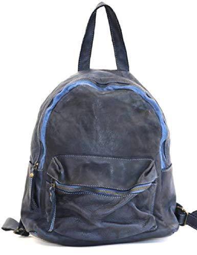 BZNA Bag Ben Blau blue Backpacker Designer Rucksack Damenhandtasche Schultertasche Leder Nappa ItalyNeu