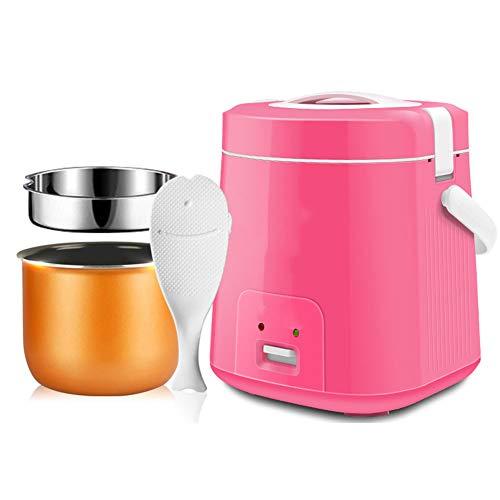 FDY Mini Cuociriso (1.8L | 300W) Multi Cooker Vaso Interno Antiaderente Portatile Isolamento Automatico - Adatto per 2-3 Persone,Rosa