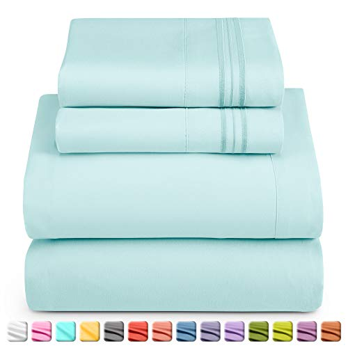 Nestl Bedding Juego de sábanas de 5 piezas – Juego de sábanas 1800 para colchones altos – Sábanas de…