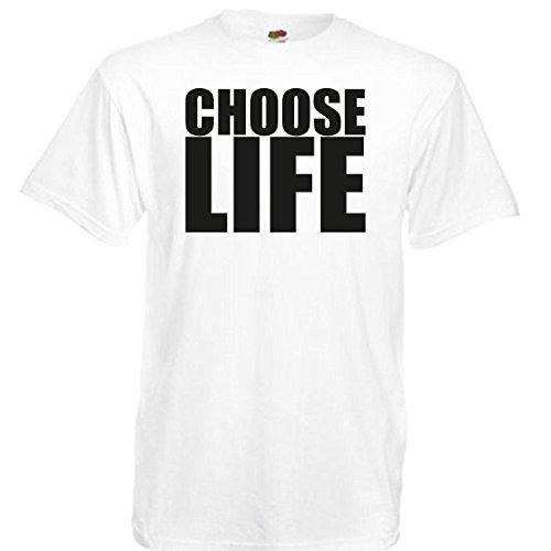 Choose Life Wham Retro 80s T-Shirt Fancy Dress, White, Medium 38-40