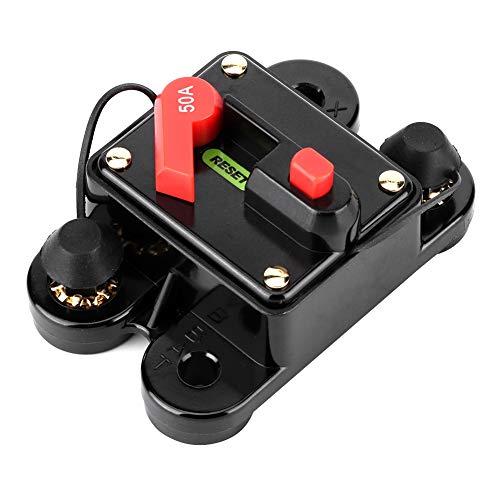 Bileffektbrytare ljud automatisk manuell återställning säkringshållare 12 V 50 A