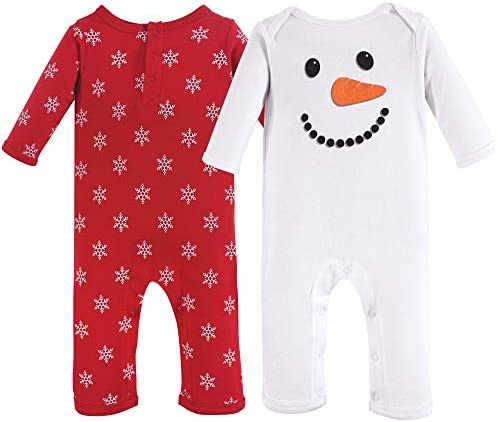 Hudson Baby baby girls Cotton Coverall Snowman 12 18 Months US product image