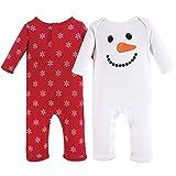 Hudson Baby Unisex Baby Cotton Coveralls, Snowman, 12-18 Months