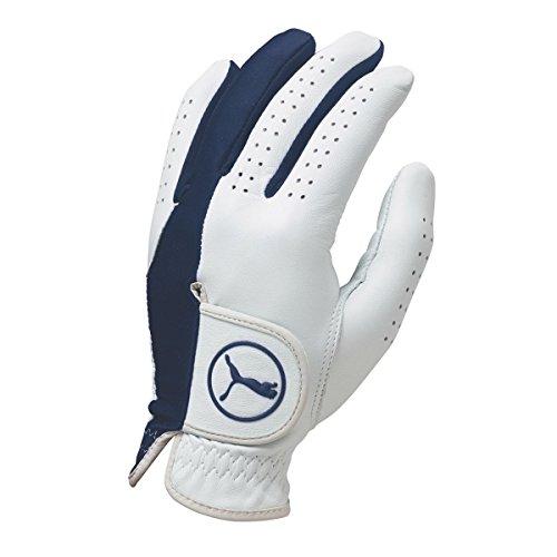 Puma Golf 2017 Pro Formation Hybrid Glove (White-Monaco Blue, Medium, Left Hand)