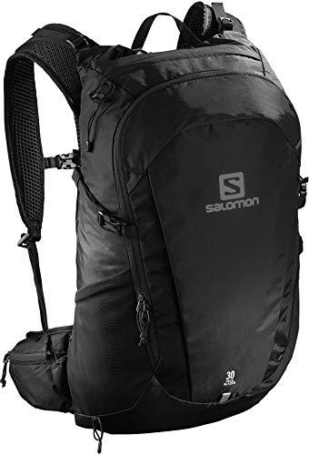 Salomon Trailblazer Mochila para Carrera de montaña, Cómoda y Ligera, Capacidad 30L, Unisex Adulto, Negro, Talla única