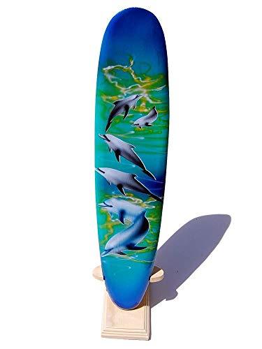 Seestern Sportswear Deko Holz Longboard Surfboard 30cm lang Airbrush Design Surfen Wellenreiten Surf /1655
