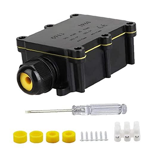 Tsikuxm Junction Box IP68 External Cable Connector 2 Way Plug Line Waterproof...