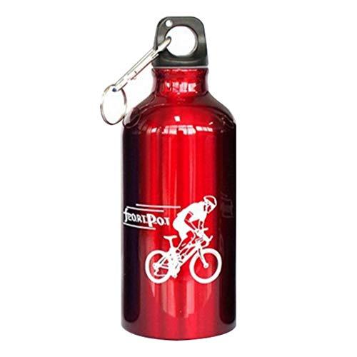 Austinstore 500ml Deportes al Aire Libre Ciclismo Botella de Agua de Bebida de aleación de Aluminio portátil Copa