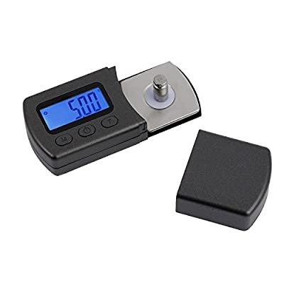 Proster Stylus Force Digital Turntable Stylus Force Scale Gauge Tester 0.01-5g LCD Backlight Cartridge Scales Gauge for Turntables Tonearm Phono Cartridge-with 5g Calibration Weights