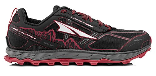 ALTRA Men's AFM1855F Lone Peak 4.0 Trail Running Shoe, Black/Red - 9 D(M) US