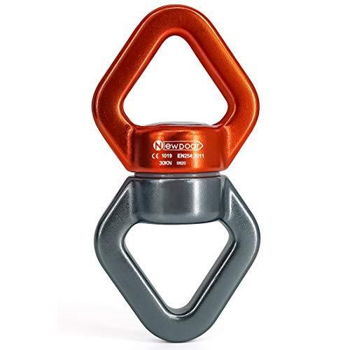 NewDoar Swing Girevole, 30 KN CE certificato Micro Rotatore girevole dispositivo per swing aerea danza/yoga/altalena/amaca sospesa/Arborista/Arrampicata su roccia (argento arancione)