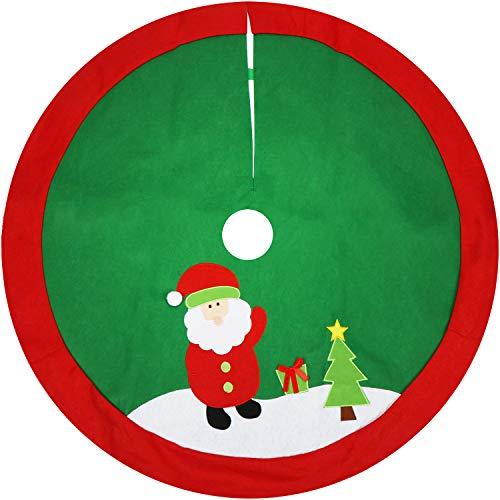 Com-four® Cubierta árbol Navidad Soporte árbol