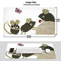 人気lep Lionni レオレオニ (1) ワイヤレス マウスパッド 耐久性が良い 防水 滑り止めゴム底 ゲーム オフィス 多機能 マウスパッ