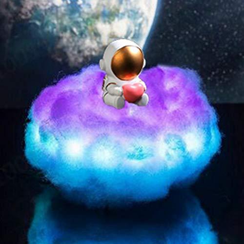 Lámpara de Astronauta de Nubes de Colores LED con Efecto arcoíris, lámpara de Nube de luz Nocturna para niños con Control Remoto como decoración Creativa para Dormitorio de (2PCS,C)