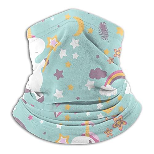 asdew987 Lindo unicornio lindo bebé unicornio cuello polaina cara bufanda máscara bandana sin costuras diadema para hombres mujeres sol viento protección contra el polvo esquí equitación